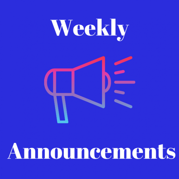 Weekly Announcements Nov. 15, 2020
