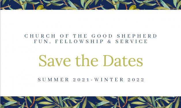Upcoming Fun & Fellowship Dates